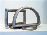 ohne titel (halbbogen mit rechteck) by bruno gironcoli