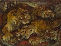 vier tiger by ludwig heinrich jungnickel