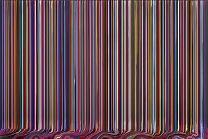 puddle painting: black by ian davenport