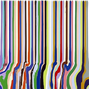puddle painting: mixing white by ian davenport