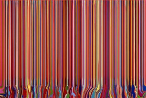 puddle painting: red by ian davenport