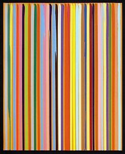 poured lines: orange by ian davenport