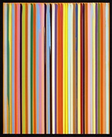 poured lines: orange by ian davenport