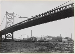 delaware bridge, philadelphia by umbo (otto umbehr)