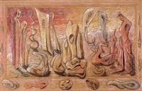 figures in a landscape by hugo gnam