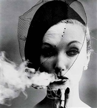 smoke and veil, paris (for vogue) by william klein
