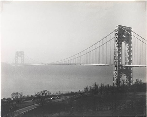 george washington bridge, new york by josef breitenbach