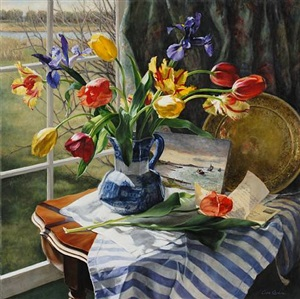 sunlit tulips by cora ogden (sold)