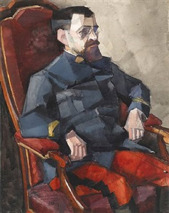 portrait of major lambert by georges valmier
