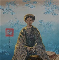 lady in persian blue by bui huu hung