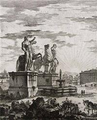 the piazza del quirinale (detail) by giovanni battista piranesi