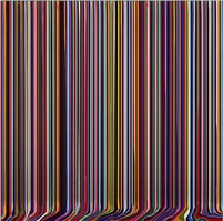 puddle painting: anthracite black by ian davenport