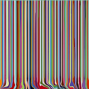 puddle painting: green by ian davenport
