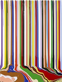 puddle painting: white by ian davenport