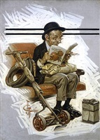 spring commuter by joseph christian leyendecker