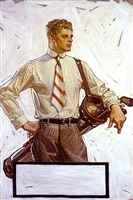 golf - arrow collar ad by joseph christian leyendecker