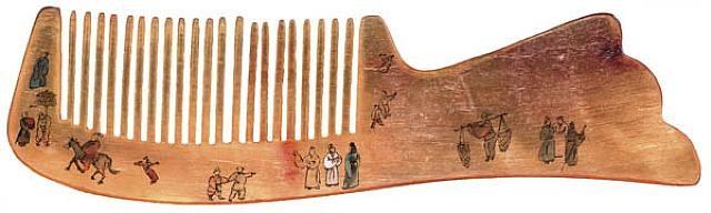 horn comb print by huang yan