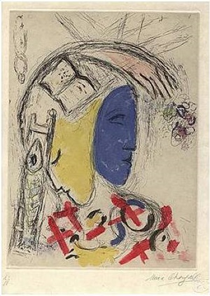 de mauvais sujets, plate 9 by marc chagall