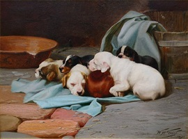 pups slumber by william henry hamilton trood