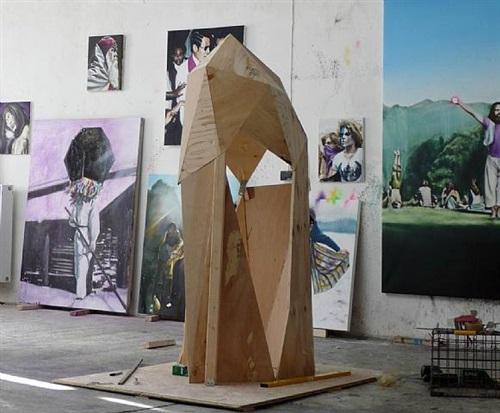 'deep purple' installation by till gerhard