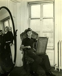george tooker at 5 st. luke's place (with paul cadmus and jared french in mirror) by george platt lynes