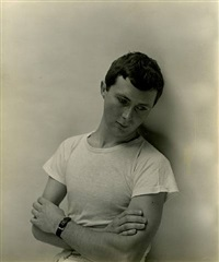 george tooker: standing, arms crossed by george platt lynes