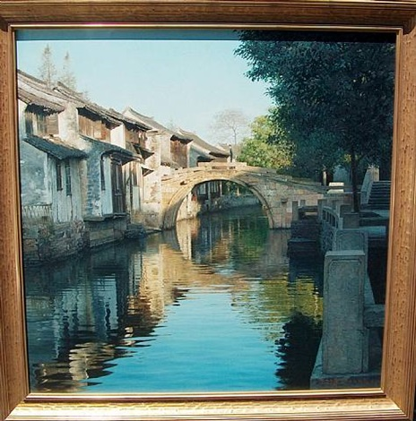 morning light in zhouzhuang by wang yihua