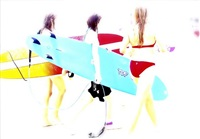 surfer girls i by christine matthai