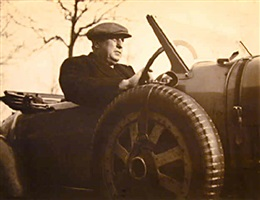 andre derain and his bugatti by man ray