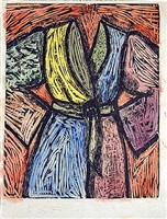 woodcut in paris and tokio by jim dine