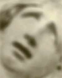 series #6: faces in cement: face gazing to heaven (103624) by robert stivers