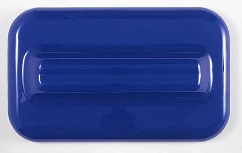 untitled (blue wall relief) by craig kauffman