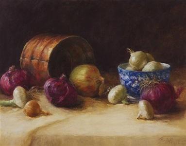 beauty of onions (sold) by stephanie birdsall