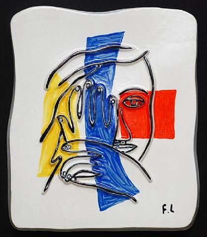 visage aux deux mains (face with two hands) by fernand léger