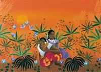 dos mujeres de gauguin sentadas by maría teresa bobbio