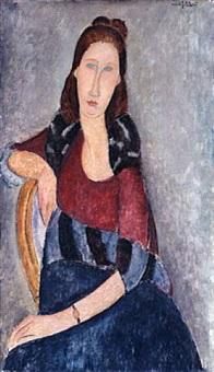 portrait de jeanne hébuterne by amedeo modigliani