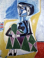 femme accroupie by pablo picasso