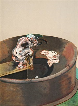 portrait of george dyer crouching by francis bacon