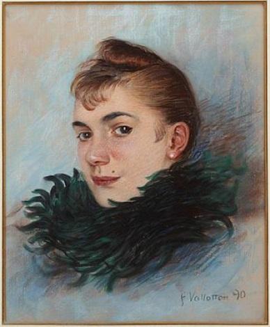 femme au boa by félix edouard vallotton