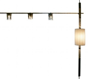 very rare pole lamp by paul evans by paul evans