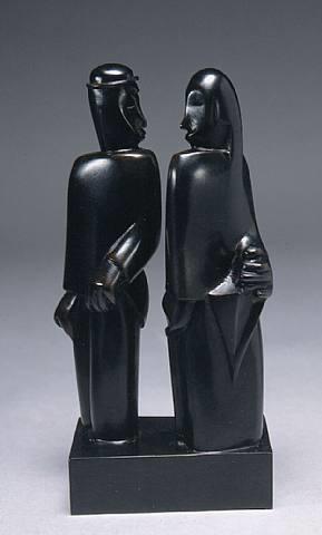 couple au parapluie by jean lambert-rucki