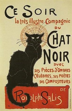 chat noir/ce soir by théophile alexandre steinlen