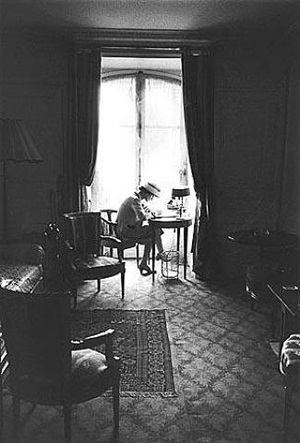 coco channel at her desk, paris by mark shaw