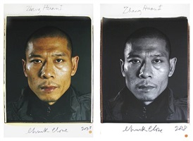 zhang huan by chuck close