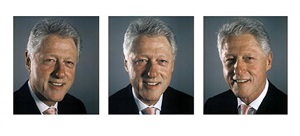 clinton triptych by chuck close