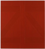red barn door by gary hume