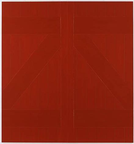 Red Barn Door By Gary Hume On Artnet