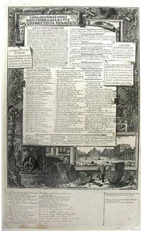 catalogo delle opere date finora alla luce da gio-battista piranesi by giovanni battista piranesi