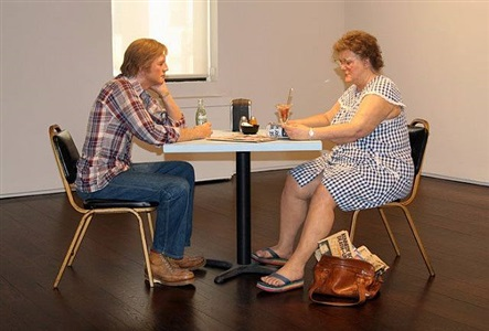 self-portrait with model (uptown location) by duane hanson
