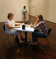 installation view (uptown) by duane hanson